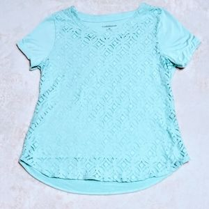 Light Turquoise Croft & Barrow T-Shirt